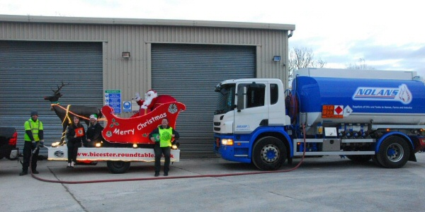 Nolan Oils helps fuel Santa's Sleigh!