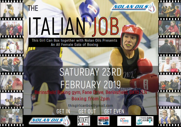 "Nolan Oils are supporting the all-female boxing extravaganza "" The Italian Job!"